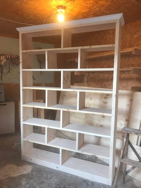 Unfinished stand along diy bookshelf
