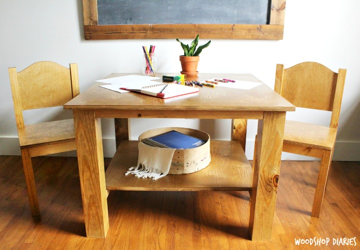 How to Build a DIY Child's Table and Chairs with Shelf