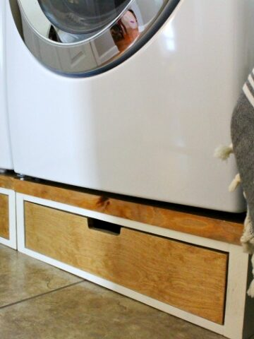 DIY Washer and Dryer Pedestal Stands for a Fraction of the Price for the Plastic Ones--How to Build Your Own