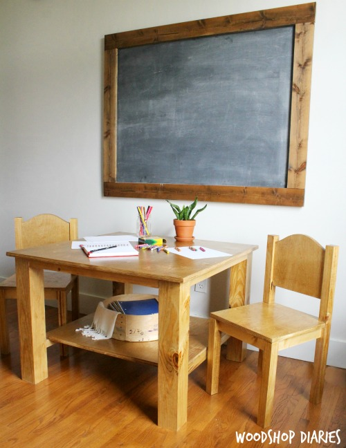 Free Plans to Build Your Own Children's Play Table and Chairs