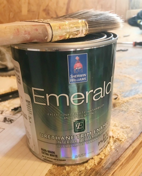 Sherwin williams Emerald paint can--diy furniture tip to use the correct type of finish