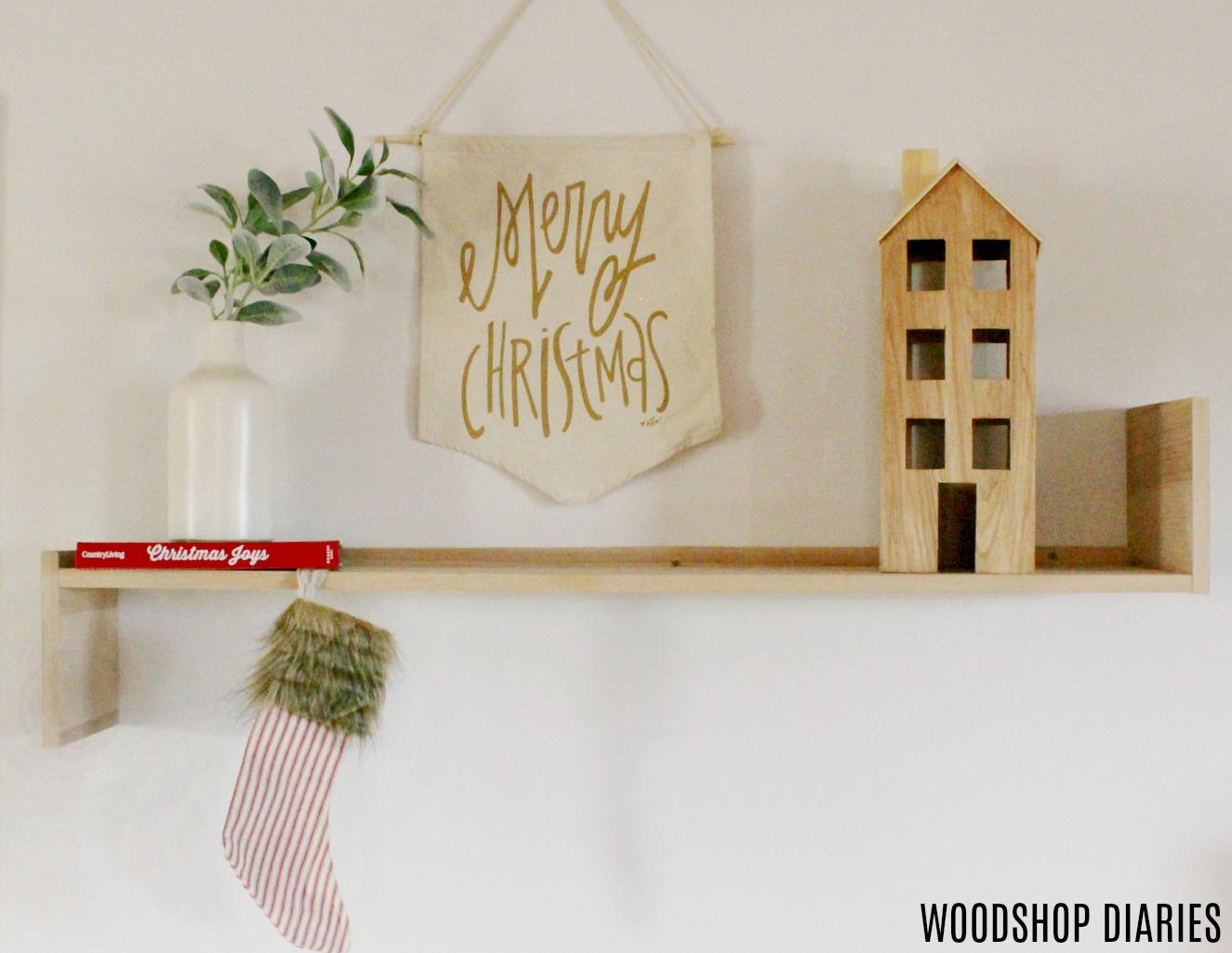 How to Build a Modern, Minimalist Wooden Shelf