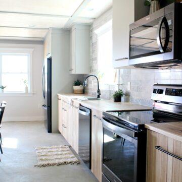 Modern Kitchen with Jeffrey Court Tile