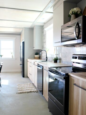Modern Kitchen with Jeffrey Court Tile