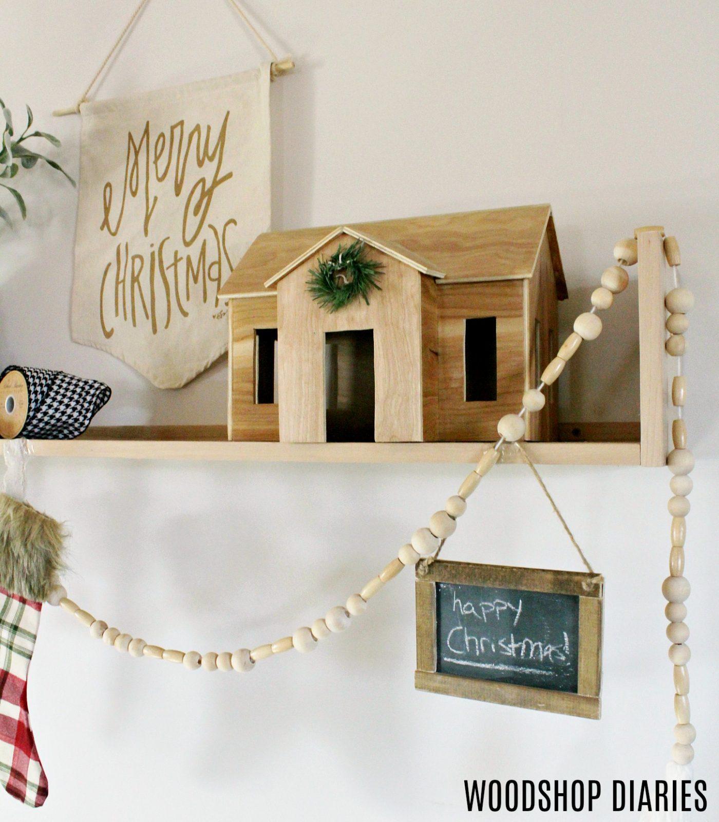 How to Build a DIY Contemporary Shelf--Christmas stocking holder Shelf