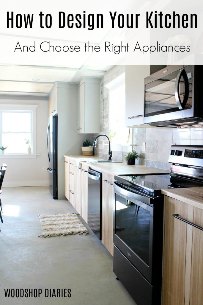How to Design Your Own Kitchen and Choose the Right Appliances for it