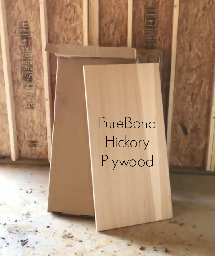 Purebond hickory plywood panel out of the box