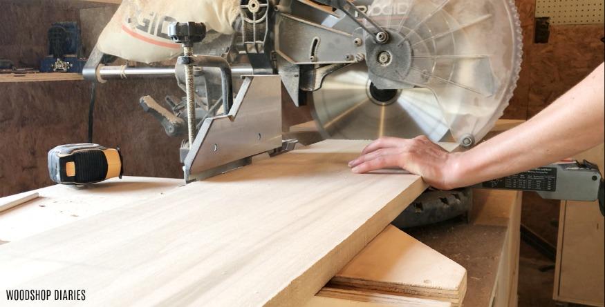 Trim DIY modern bed head board pieces to length
