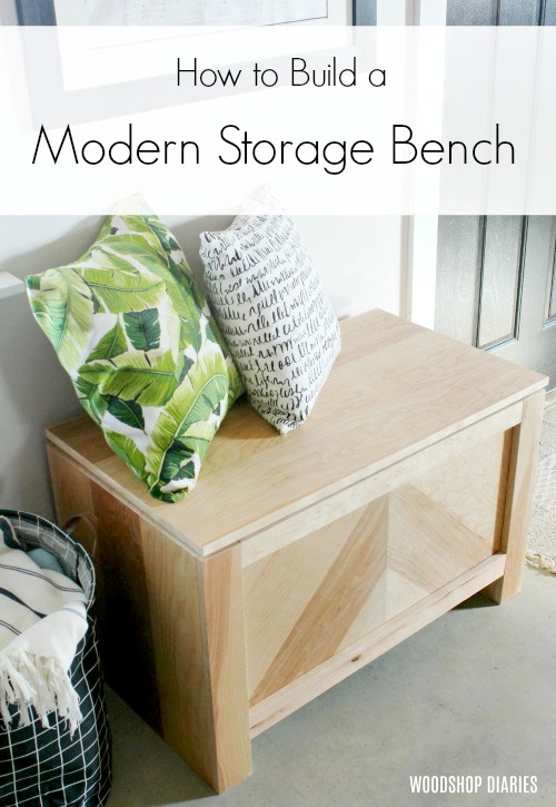 How to Build a Modern Rustic DIY Storage Chest--DIY Storage Trunk--DIY Storage Bench--DIY Toy Box