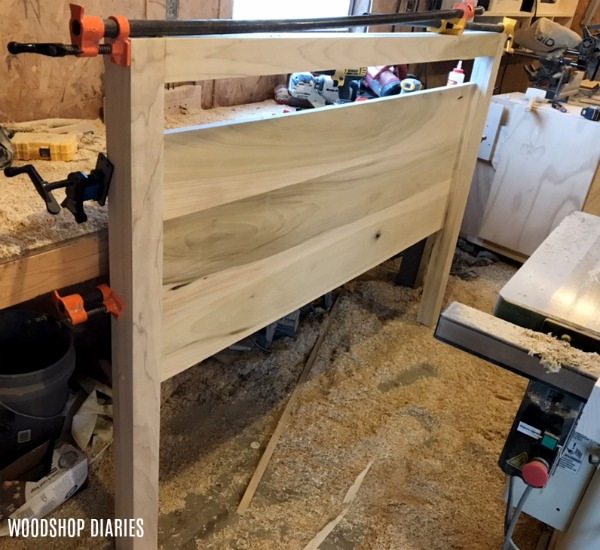 Glue and clamp head board assembly