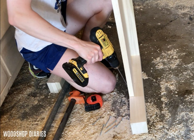 Install foot board panel into foot board frame