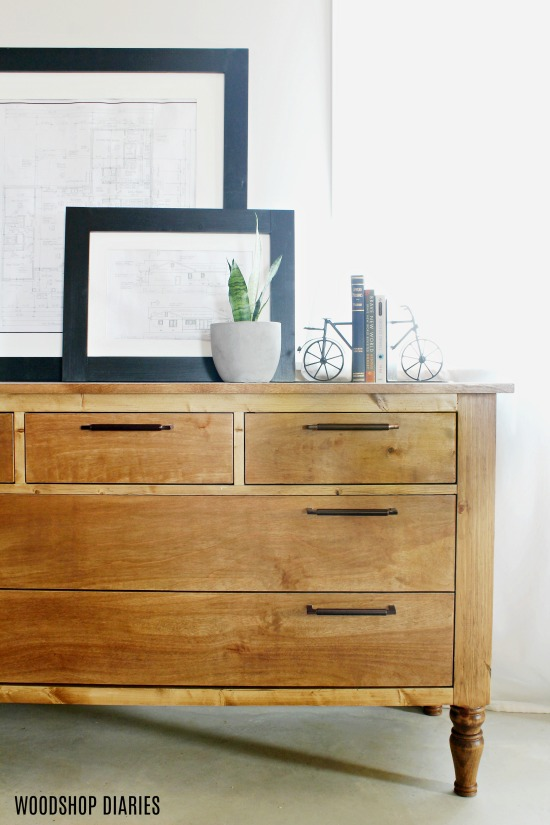 How to Build Your Own DIY Dresser--Tutorial and Video for this Easy to Build Dresser