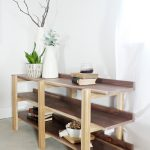 DIY Console Table Stacked Modern Bookshelf--Build your own with this tutorial