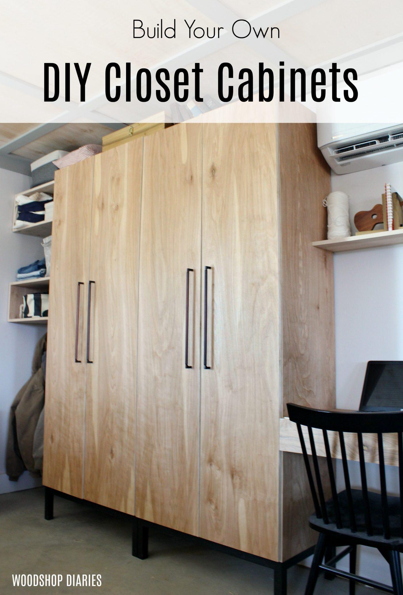 How to Build a DIY Closet Cabinet--With Closet Rod, Shoe Shelf, and Adjustable Shelves