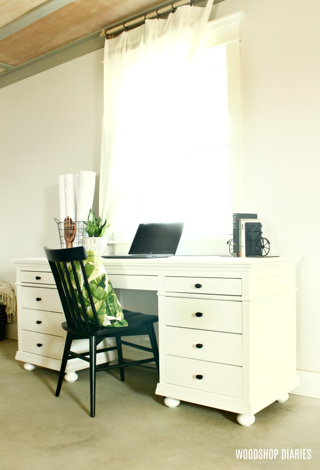 How to Build Your Own DIY Storage Desk with 9 Drawers--Building Plans and Video Tutorial