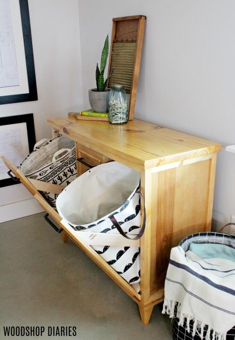 Diy Tilt Out Laundry Hamper Cabinet, Laundry Hamper Cabinet Diy