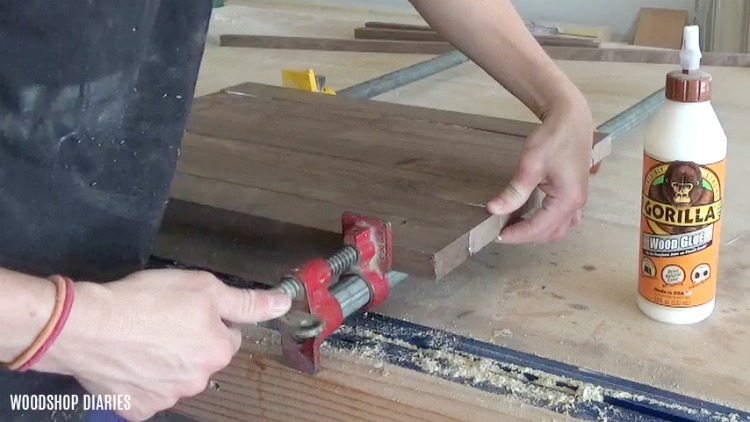 Clamp together DIY modern serving tray bottom section
