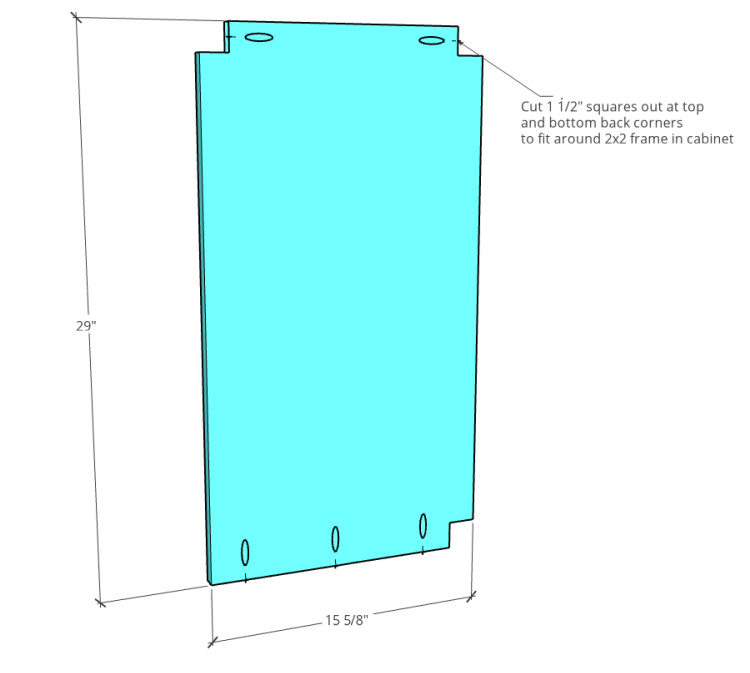 Divider panel with corners removed to fit into frame