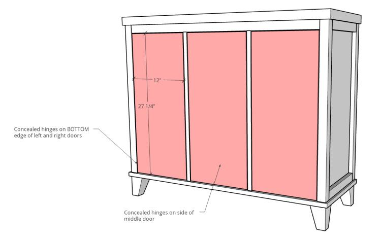 Door sizing diagram