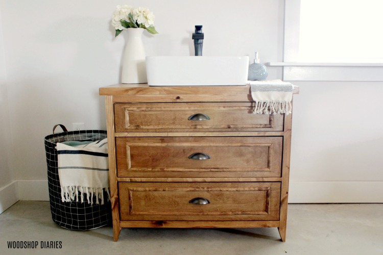How to Build a Single Sink Three Drawer Vanity with Drawers