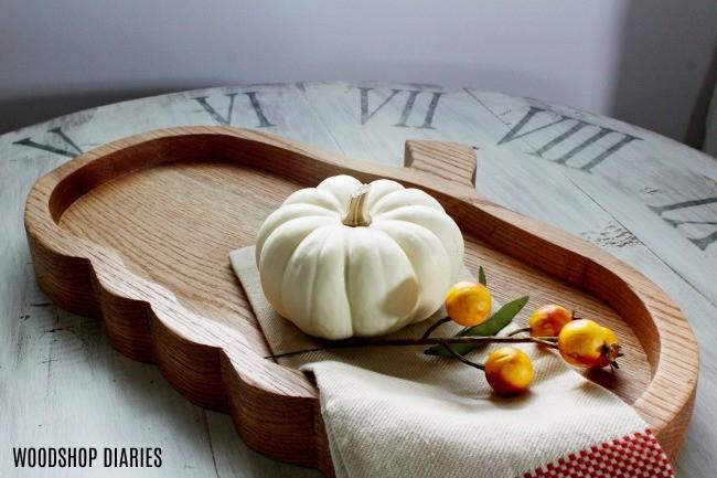 DIY Pumpkin Plate perfect for fall seasonal decor