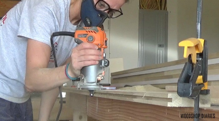 Using trim router to add roundover to door frame
