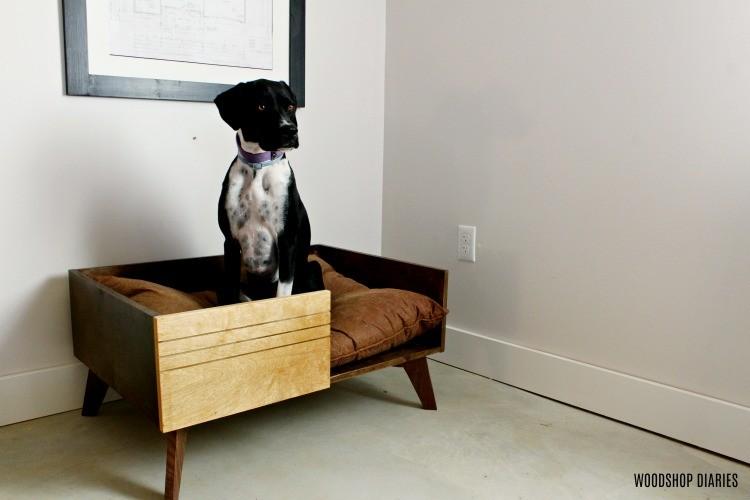 DIY Dog bed--handmade christmas gift ideas for pets