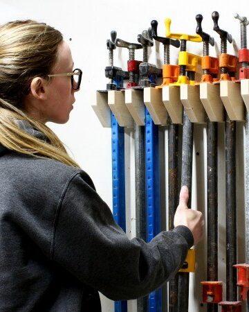 DIY Pipe Clamp Shop Rack
