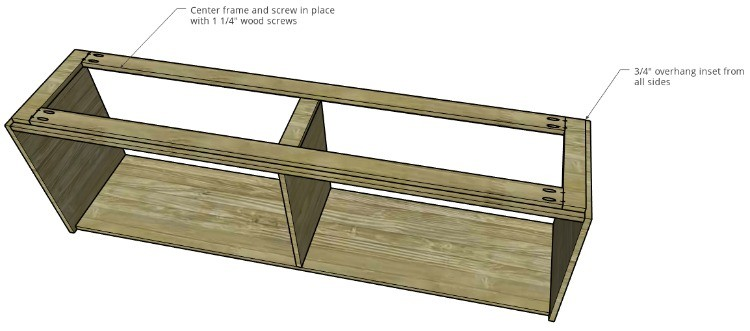 Installing frame diagram onto cabinet body