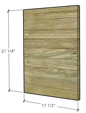 Door dimensions for console cabinet doors