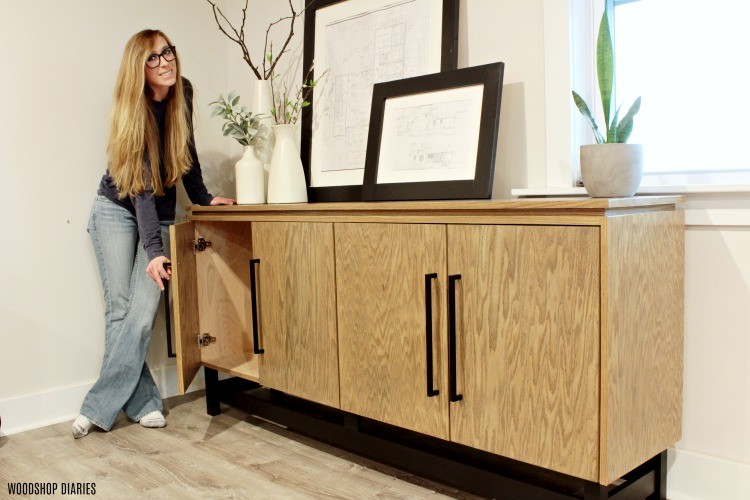 Modern console cabinet--handmade christmas gift idea