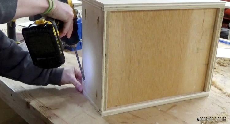 Assembling drawer boxes for dresser vanity