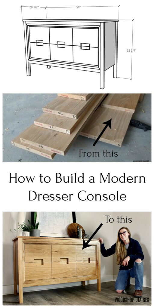 Modern DIY dresser console pin image collage
