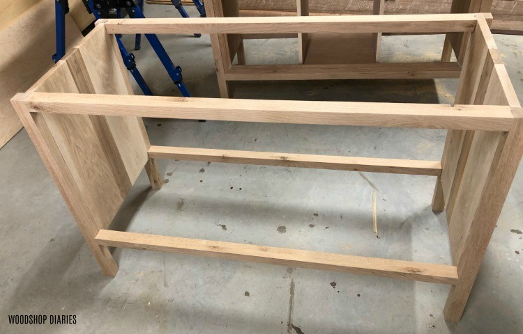 Console cabinet frame assembled