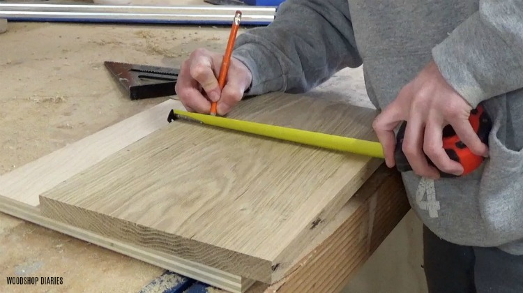 measure where to cut notches for front of drawers