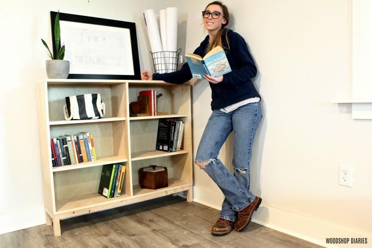 Shara Woodshop Diaries with one sheet plywood bookshelf