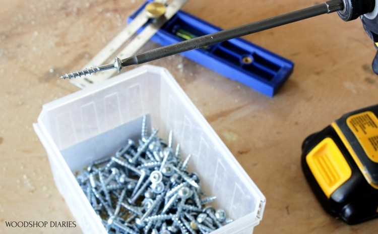 Kreg Pocket hole screws with washer head in drill bit