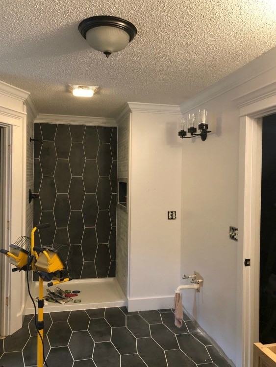 Walls and trim painted Behr Ambience White