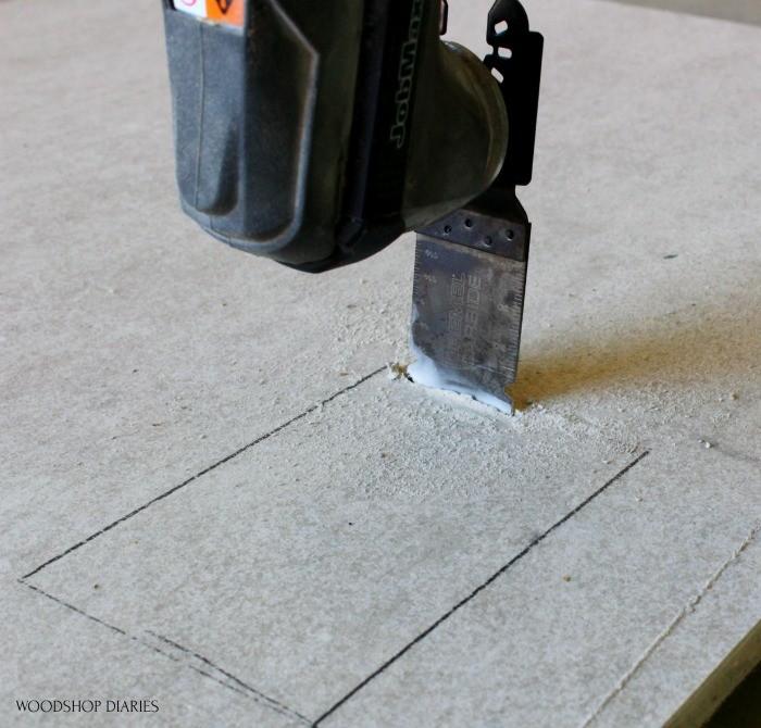 Dremel Blades for oscillating saw cutting through cement board