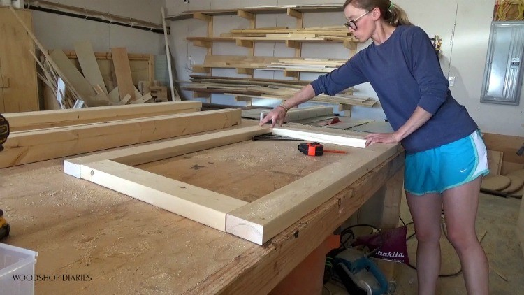 Shara dry fitting 2x4 pieces for side panel