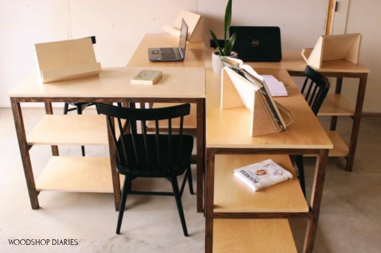 Desks configured in 4 desk pod