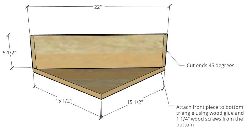 Assembly and cut diagram or seat bottom and front pieces