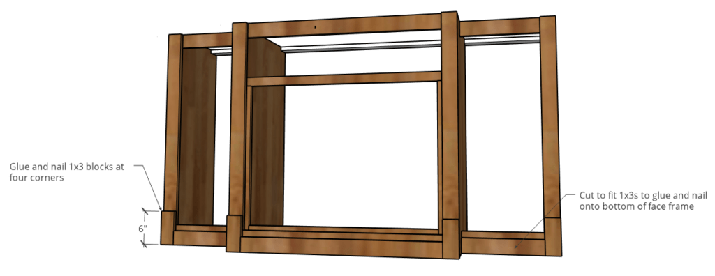 1x3 trim blocks added to bottom of dog crate