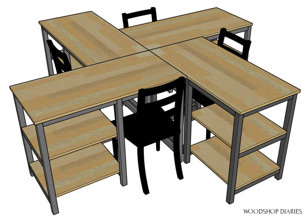 4 DIY Desk Pod Example Configuration diagram