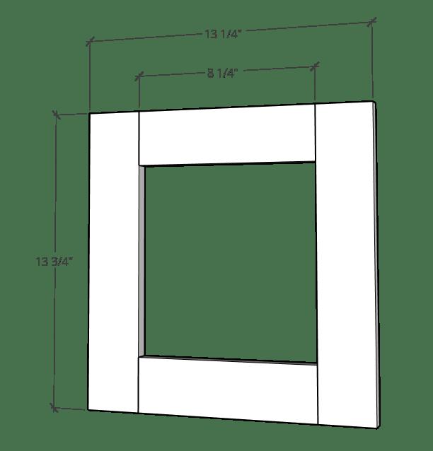 Door frame dimensions for blessing box door