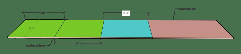 plywood cut diagram of narrow plywood strip