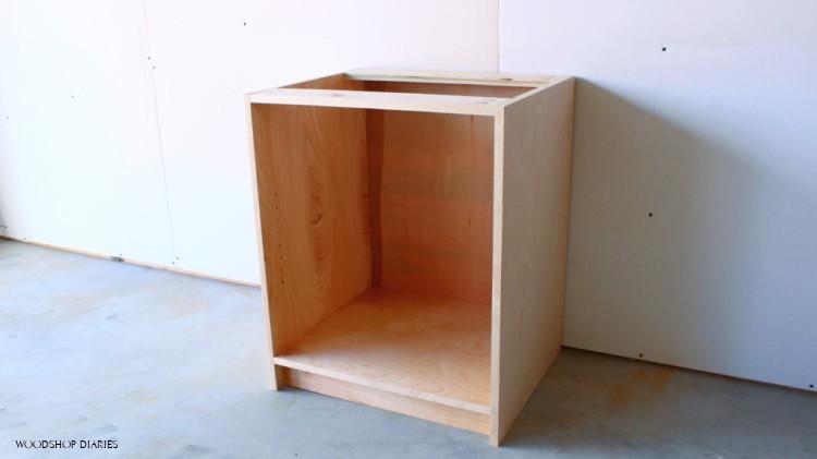 Basic unfinished DIY cabinet box