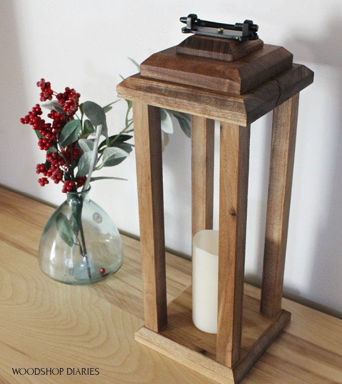 How to build a simple modern DIY wooden candle lantern
