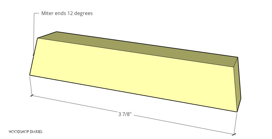 Diagram of middle tree frame top pieces