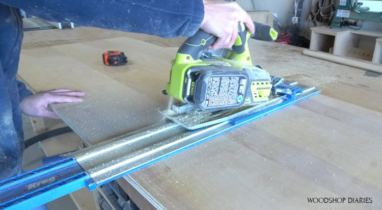 AccuCut to cross cut plywood